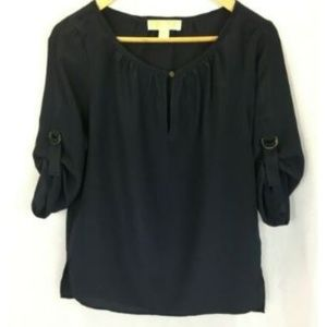 Michael Kors Shirt Womens Sz S Small Navy